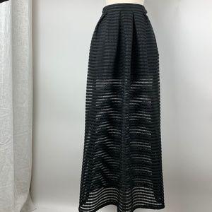 NWT GUESS M Matilda Shadow Mesh Maxi Skirt